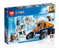 Конструктор 02110/ 10995 Cities Archtic 360/ 339 дет. Грузовик ледовой разведки