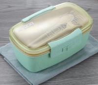 Ланчбокс Lunch BOX 800ml 2 емкости + приборы