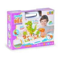 Детский Конструктор Мозайка Creative Portable Box 4в1 198+дет. шуруповерт + отвертка