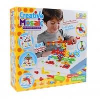 Детский конструктор Мозайка CREATIVE MOSAIC 4в1 240+ дет. отвертка + ключ