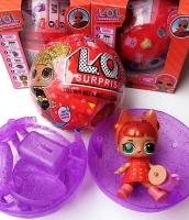 Кукла  LOL (Лол) - Сюрприз Шар Red Series 3в1 шт светятся красный