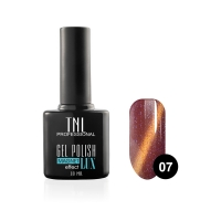 Гель-лак TNL - magnet lux №07 - малиново-вишневый с блестками (10 мл.)