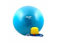 Мяч гимнастический STARFIT GB-102 85 см, с насосом, синий / белый (антивзрыв) 1/10