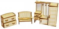 Мебель для Кукольного домика на 6 комнат