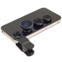 Набор Объективов для смартфона Universal Clip Lens 3 в 1 (Fisheye, Macro, Wide)