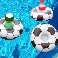 Надувной подстаканник Футбольный мяч 20х15см