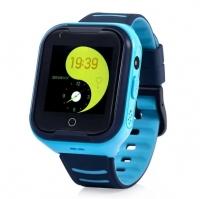 Smart baby watch Wonlex KT11 4G видеосвязь Голубые детские сенсорные часы
