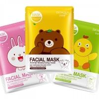 Тканевая Маска для лица BioAqua Facial Mask Animal Moisturizing Mask 30g