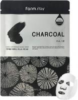 Тканевая маска для лица с древесным углем Visible Difference Mask Sheet Charcoal FarmStay