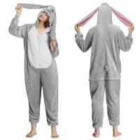 Пижама Кигуруми 3D Кролик Серый размер M (160-170см)