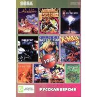 Картридж для Sega 19в1 LION KING 1,2,3/ALADDIN/DAFFY DUCK
