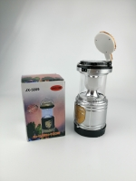 Кемпинговый складной фонарь 3в1 на сол.батарее круглая лампа JX-5889