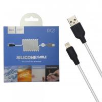 Кабель Hoco X21 Silicone Cable USB Lighting (L=1M)