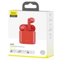Беспроводные наушники Baseus Encok True Wireless Earphones W09 Red