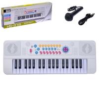 Синтезатор Белый Ангел, 37 клавиш, с микрофоном и USB