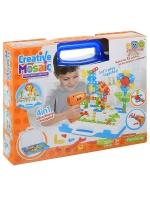 Детский конструктор Мозайка CREATIVE MOSAIC 4в1 237+ дет. шуруповерт + отвертка + ключ