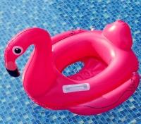"""Надувной круг Фламинго 27""""x21"""" с ручками"""