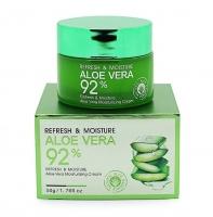 Крем для лица Refresh & Moisture Aloe Vera Moisturizing Cream 92%
