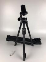 Телескопическая тренога до 1,28м + Bluetooth пульт и Держатель для гаджета