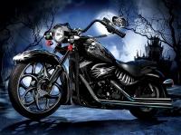 Алмазная мозаика 40х50 Квадратные стразы Мотоцикл