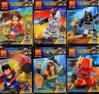 Конструктор 10982-10987 Супергерои 1шт Герой + Оружие