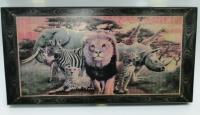 Нарды средние 40х20х3,6см Animal Series Тонированный цветной рисунок