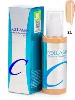 Увлажняющий тональный крем с коллагеном тон 21 Collagen moisture foundation #21 Enough
