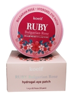 Гидрогелевые патчи с болгарской розой и рубином Ruby & Bulgarian Rose Eye Patch Koelf
