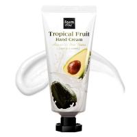 Крем для интенсивного питания сухой кожи рук  с маслами ши, жожоба, экстрактом авокадо Tropical Fruit Hand Cream - Avocado & Shea Butter FarmStay