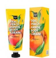Крем рук и тела с экстрактом персика Real Peach Hand & Body Cream FarmStay