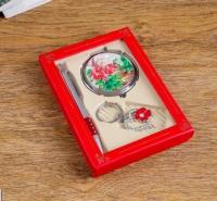 Подарочный набор 3в1 ручка, брелок, зеркальце