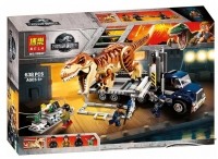 Конструктор 10927 Dinosaur World 638 дет Транспорт для перевозки Тираннозавра