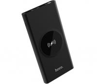 Внешний аккумулятор Hoco J37 с беспроводной зарядкой 10000 mAh Wisdom wireless charging Black