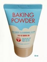 Глубоко очищающая пенка с содой для снятия макияжа и ВВ крема 30ml Baking Powder BB Deep Cleansing Foam - Mini Etude House