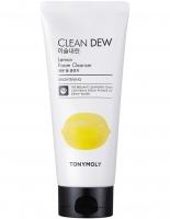 Омолаживающая пенка для умывания с экстрактом лемона 180ml  Clean Dew Foam Cleanser Lemon TonyMoly