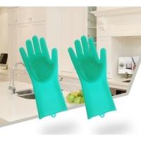 Силиконовые Перчатки для мытья посуды Kipa Корея