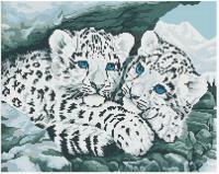 Алмазная мозаика 40х50 Квадратные стразы Пятнистые братья