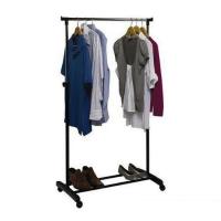 Напольная передвижная стойка для одежды одинарная Single Pole Telescopic Clothes rack 750х420х850-1500mm