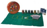 Набор Покер 200 фишек 2 колоды карт, сукно 09230 в блистере