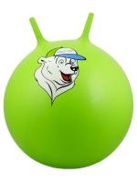 """Мяч-попрыгун STARFIT GB-403 65 см """"Медвеженок"""", с рожками, зеленый 1/10"""