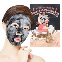 Черная пузырьковая маска с сывороткой Hell Pore Black Solution Bubble Serum Mask Pack Elizavecca