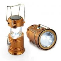 Кемпинговый складной фонарь 3в1 на сол.батарее + зарядка для телефона SIHONG SH-5800T