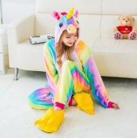 Пижама Кигуруми Радужный Единорог размер L (170-180см)