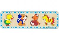 Пазлы для малышей Медведь, лошадь, утка, собака