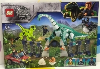 Конструктор 82133 Dinosaur World 485 дет Нападение динозавров