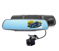 Зеркало + регистратор с камерой зад.вида + сенсорный экран Vehicle Blackbox DVR 1080P HD Touch