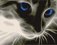 Алмазная мозаика 40х50 Квадратные стразы Призрачный котик
