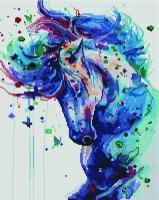 Алмазная мозаика 40х50 Квадратные стразы Фантастический конь