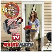 Москитная сетка на 18 магнитах Magic Mesh (Меджик Меш) Оригинал в коробочке