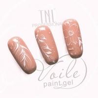 Гель-краска для тонких линий TNL Voile №02 (белая), 6 мл.